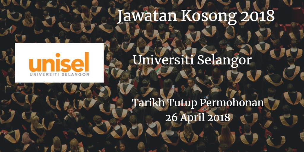 Jawatan Kosong UNISEL 26 April 2018