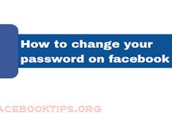 How to Change Facebook Account Password