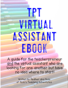 Are you a teacherpreneur who is looking for a virtual assistant? This book will help you out! Are you a virtual assistant who wants to work with a TpT seller? Then this book is also for you! Click through to see how this amazing resource can help you find OR become a virtual assistant! Plus you'll gain access to a secret Facebook group for collaboration! {There's a FREE preview when you click through.}