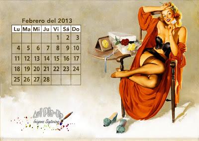 Calendario en español Pin-Up | 2013 | Vintage | Gil Elvgren