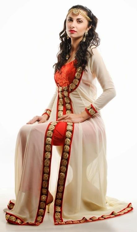 Lovely Fancy Long Open Double Shirt Gown Style 2016 | Pak Fashion ...