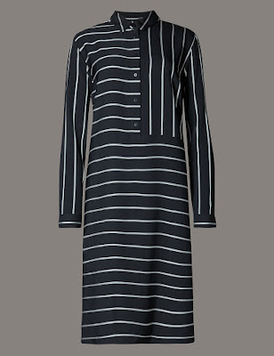 Marks and Spencer Striped Shirt Dress