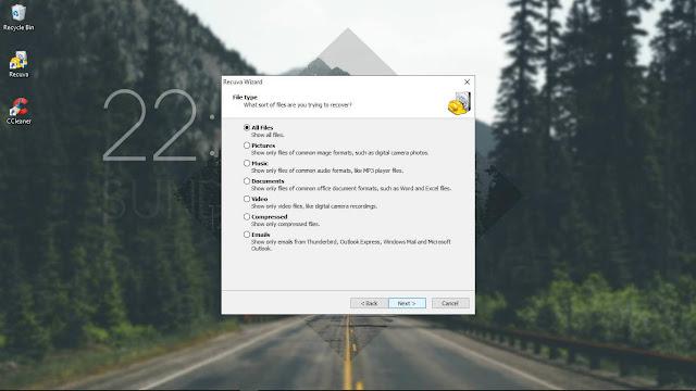 Mengembalikan File yang terhapus di Flashdisk dengan Recuva