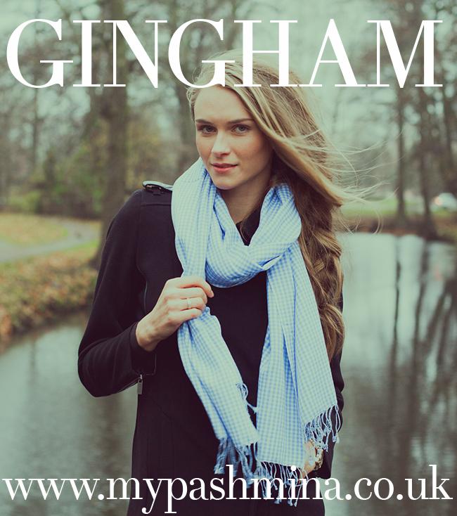 Gingham Pashminas