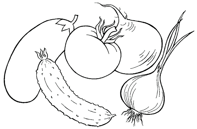 Gambar Mewarnai Sayuran