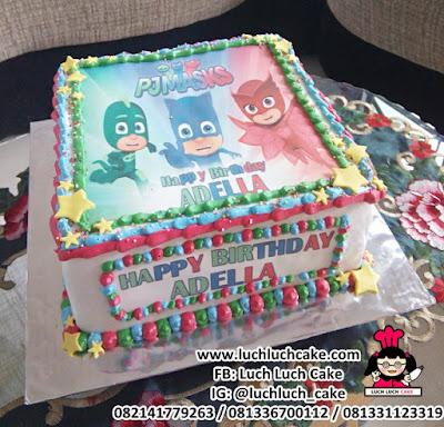 Kue Tart Ulang Tahun PJMASKS