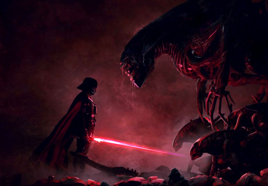 Star Wars Movies Darth Vader Alien Artwork Video Games
