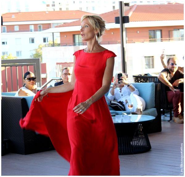 Blog Mode : Rebecca Hampton avec la robe Patrice Papa qu'elle porta au 70 ème Bal de la Croix Rouge