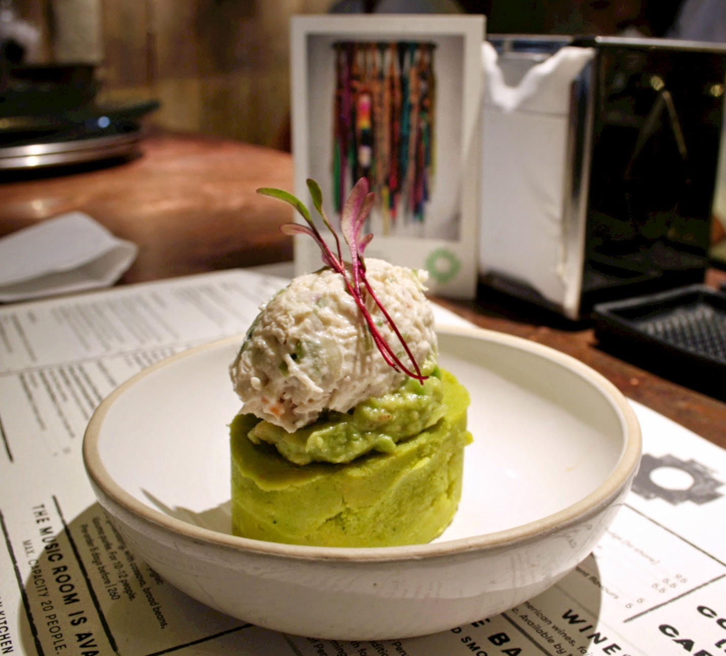 One of my new favourite meals - chicken & avocado causa from Andina, Shoreditch