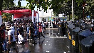 Polres Cirebon Kota Simulasi Pengamanan Pemilu 2019