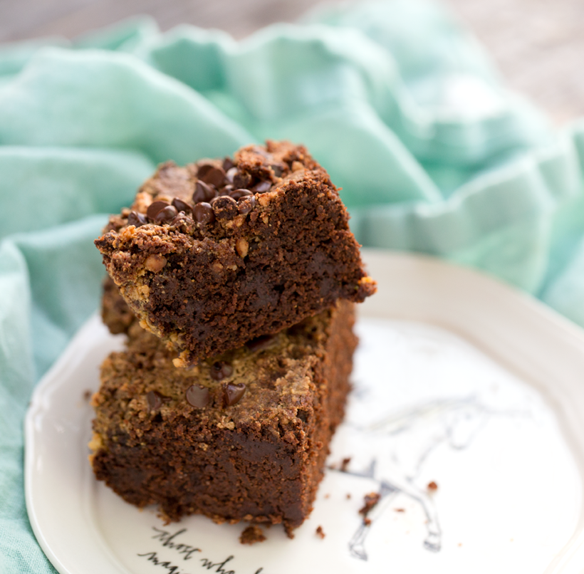 Vegan Peanut Butter Buckwheat Sweet Potato Brownies