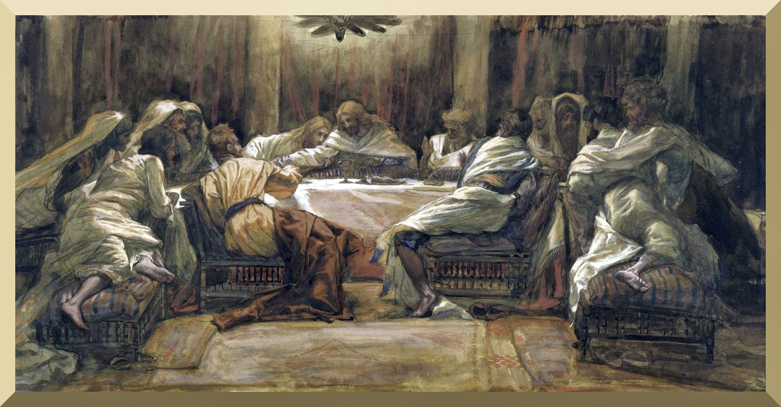 """The Last Supper: Judas Dipping his Hand in the Dish"" -- by James Tissot"