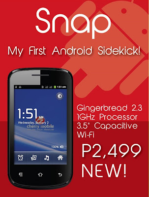 Cherry Mobile Snap: Full Specs, Price and Availability in the Philippines