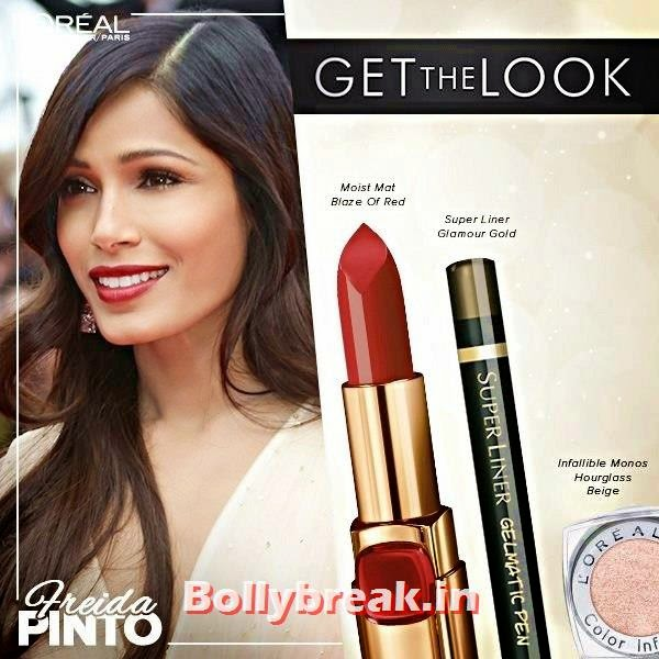 Freida Pinto Cannes Look, Get The Cannes Look of Sonam, Aishwarya & Freida