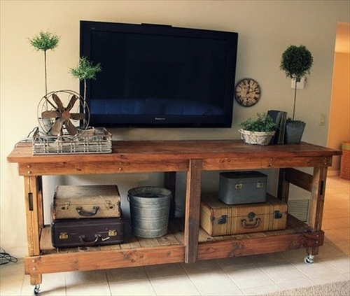 Diy Interior Furniture 14 Pallet Tv Stand Styles Pallet Furniture
