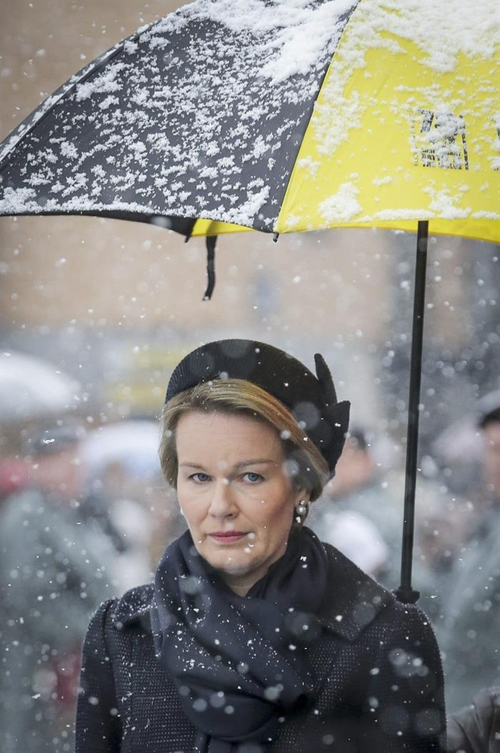 Queen Matilda attends commemoration ceremony of the Battle of Bulge  Newmyroyals  Hollywood