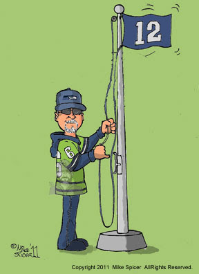 Seattle Seahawks fans caricature football gift  Twelfth man