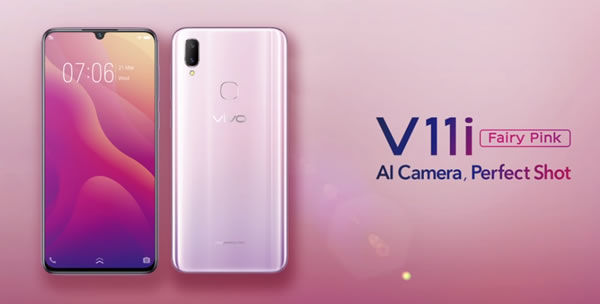506d0a294536 Vivo has officially revealed the limited-edition Fairy Pink Vivo V11i in  Malaysia. The V11i is part of Vivo s latest V series line up