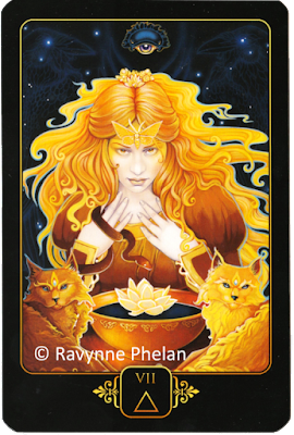 Dreams of Gaia Tarot Seven of Fire
