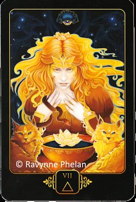 Dreams of Gaia Tarot Seven of Fire