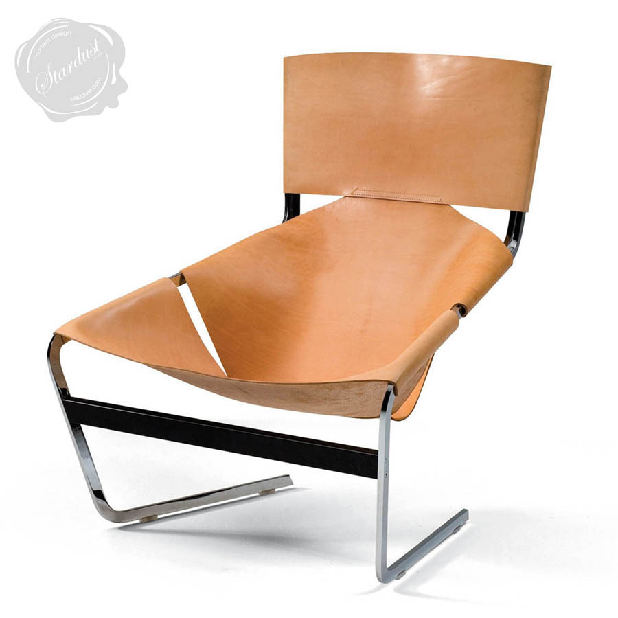 F 444 chair leather sling chairs all colors for Chair design leather