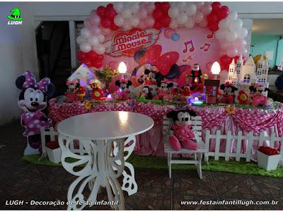 Decoração tema Minnie rosa  - festa infantil
