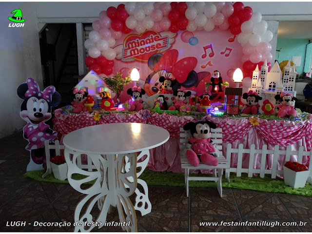 Decoração infantil Minnie rosa  - Tradicional Luxo