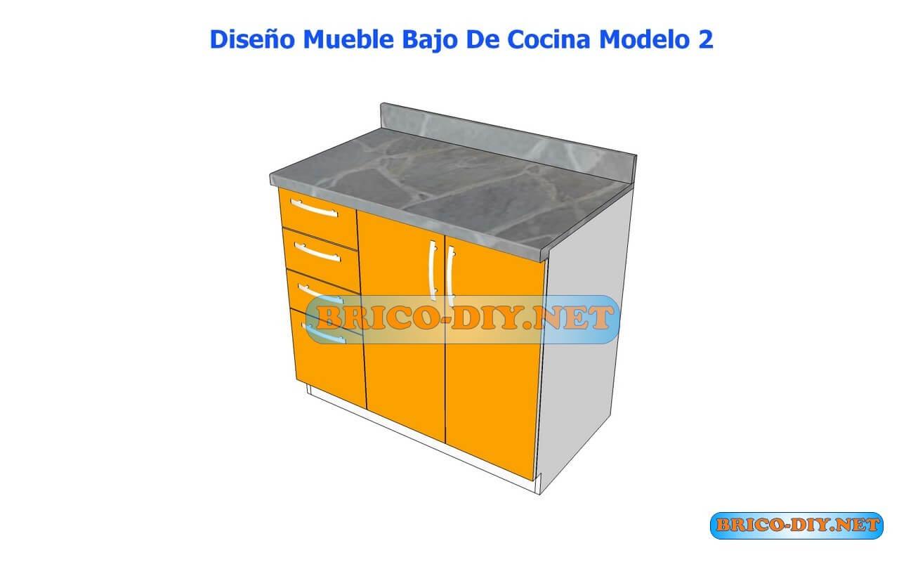 Dise os de muebles bajos de cocina en mdf madera y for Muebles para cocina df