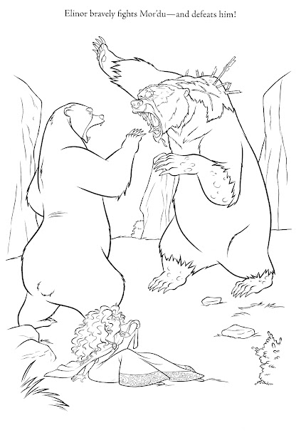 Brave Coloring Pages  Elinor Fights