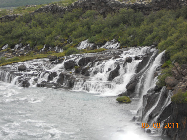 HraunaFoss water falls