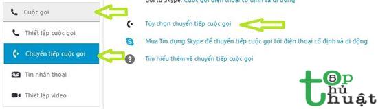 Chuyển tiếp cuộc gọi trên ứng dụng Skype
