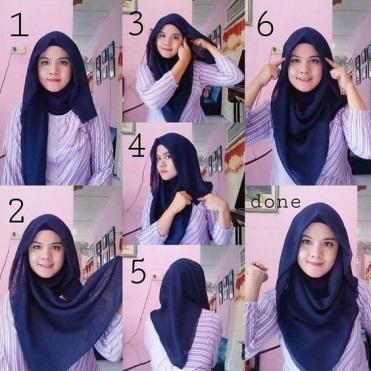 tutorial hijab kerudung paris style 3