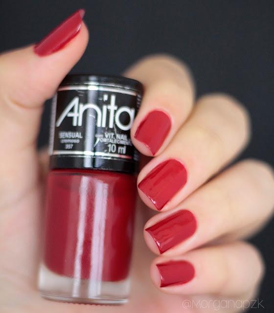 """Esmalte Vermelho """"Sensual"""" da Anita Cosméticos"""