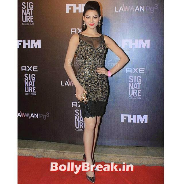 urvashi rautela , look. stunning at an award function  bollywood ,pictures bollywood , bolly ,, Urvashi Rautela Hot Pics from FHM Bachelor of the year 2014 Award