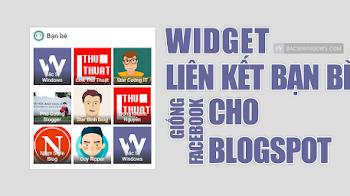 Tạo widget Liên Kết Bạn Bè 3 cột giống Facebook cho Blogspot