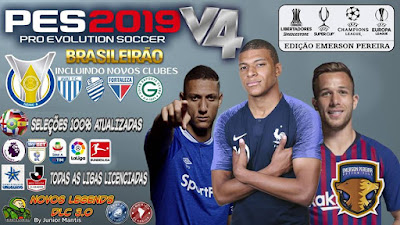 PES 2019 PS4 Option File v4 DLC 3.0 by Emerson Pereira Season 2018/2019