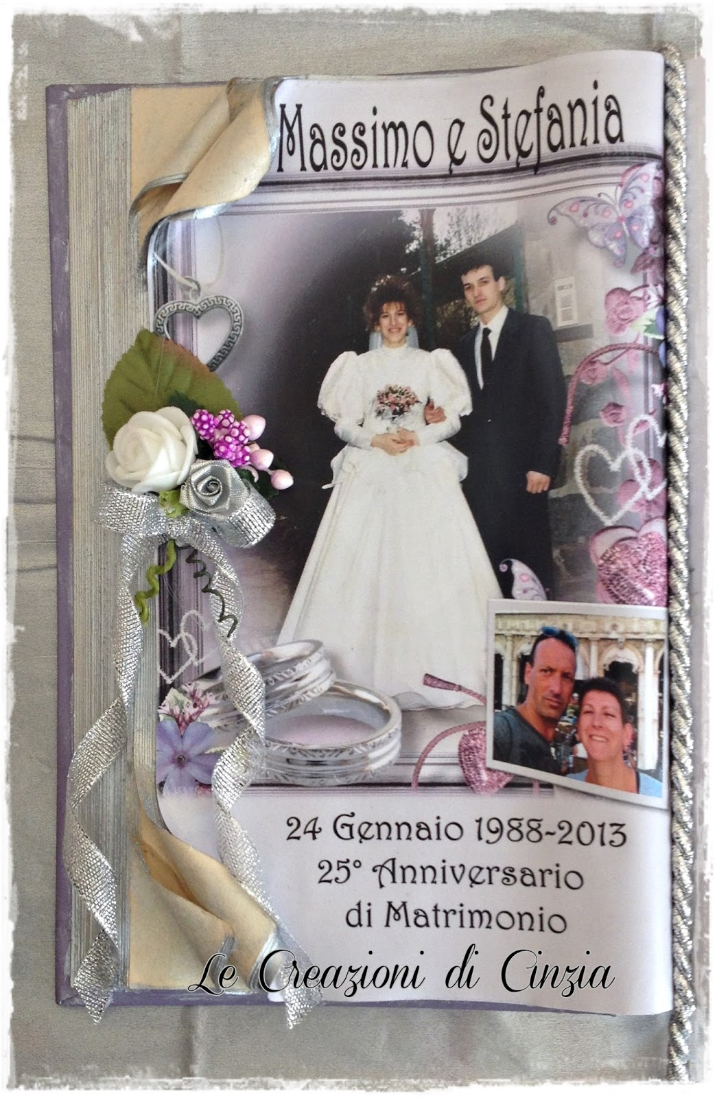 Le creazioni di cinzia nozze d 39 argento a vercelli for Anniversario matrimonio 25