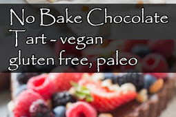 Yummy No Bake Chocolate Tart - vegan, gluten free, paleo