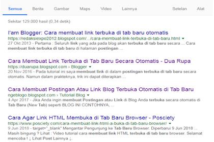 Postingan blog terbuka di tab baru otomatis