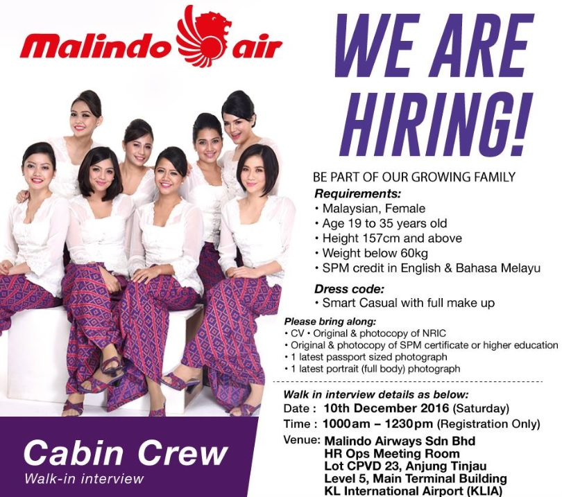Fly gosh malindo air cabin crew recruitment walk in for Cabin crew recruitment agency philippines