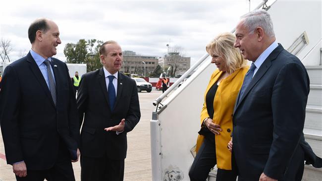 Argentineans hold protest against Israeli Prime Minister Benjamin Netanyahu's visit