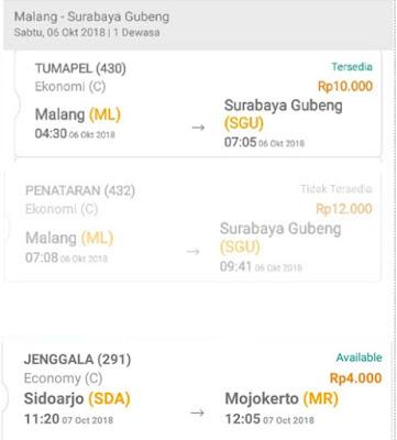 Tiket KA Lokal Bisa Dipesan Online