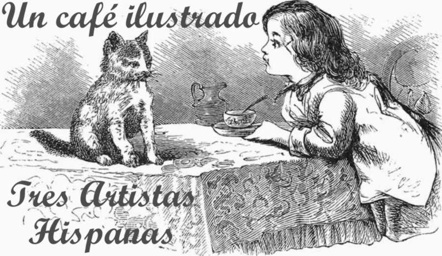 La cara web ilustrada y en femenino: Charla y un café con 3 artistas hispanas