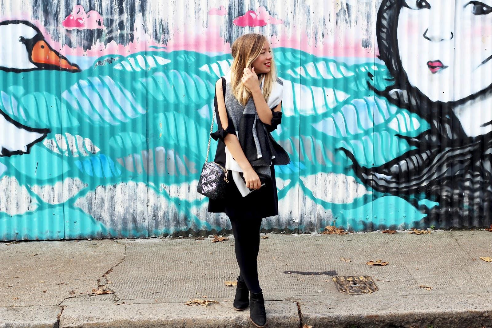 Robe noire asos blog mode