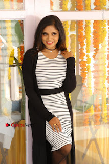 Telugu Actress Karunya Chowdary Stills in Black Dress at Soda Goli Soda Movie Opening  0316.JPG