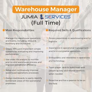 a Warehouse Manager at jumia