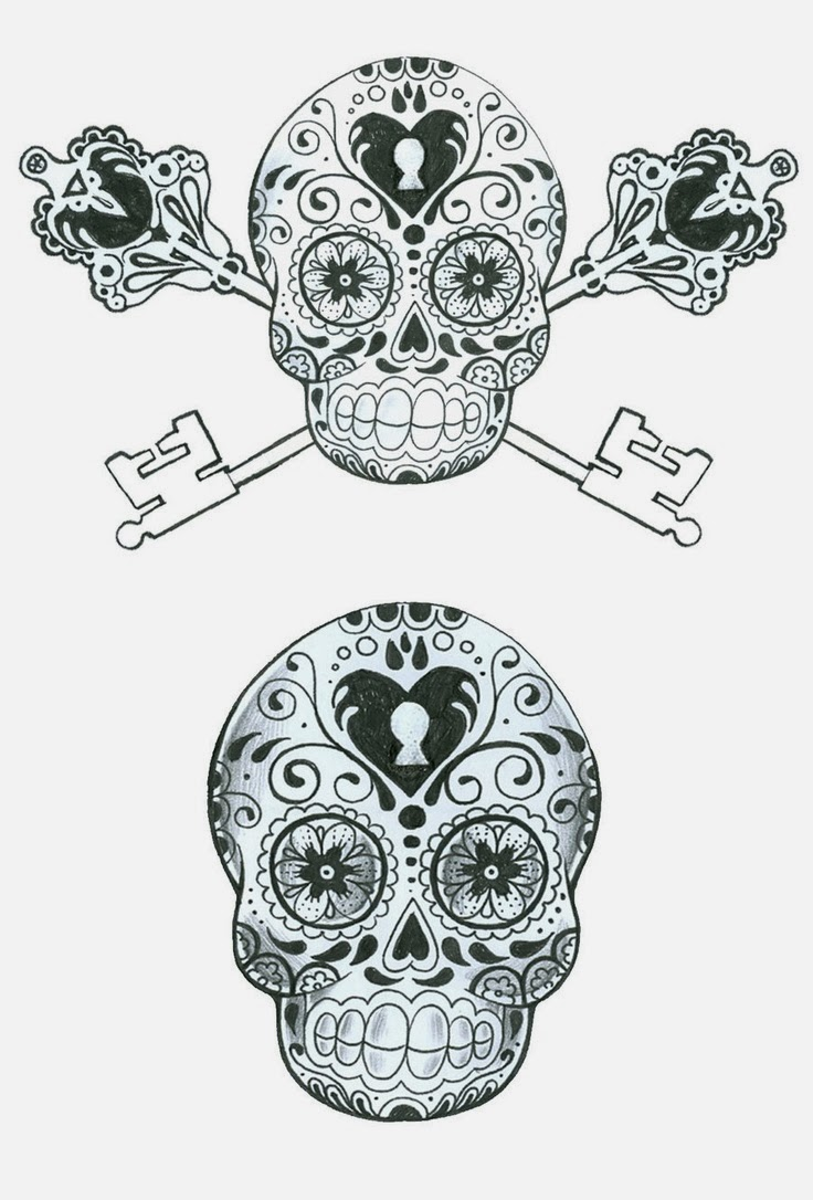 Sugar Skull Template Tattoos Book 2510 FREE Printable Tattoo Stencils Sugar