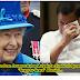 "PANOORIN! Breaking News: Pres. Duterte Halos Maiyak Sa Sinabi Ni Queen Elizabeth na ""Grass to Grace"" Alamin"