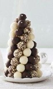 arvores de natal com chocolate