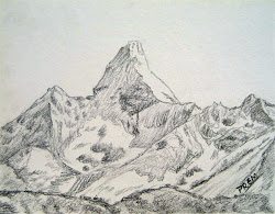 sketches sketch mountains mountain mt easy simple draw cool ama dablam drawing geology cliffs tattoo prem